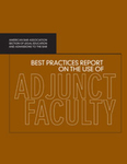 Best Practices Report on the Use of Adjunct Faculty by Eric J. Gouvin